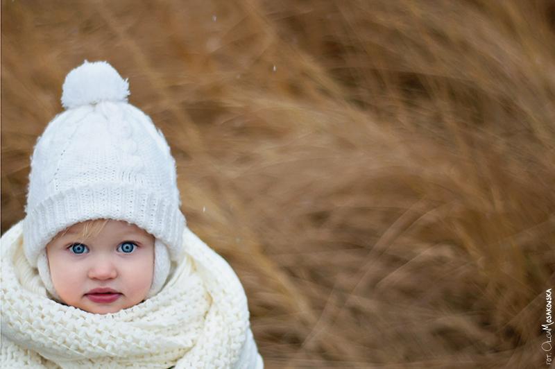 Projekt fotograficzny - bokeh. Zdjęcie portretowe dziecka.